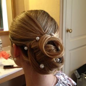 Chignon mariage Anne-Laure R. Coiffure&makeup